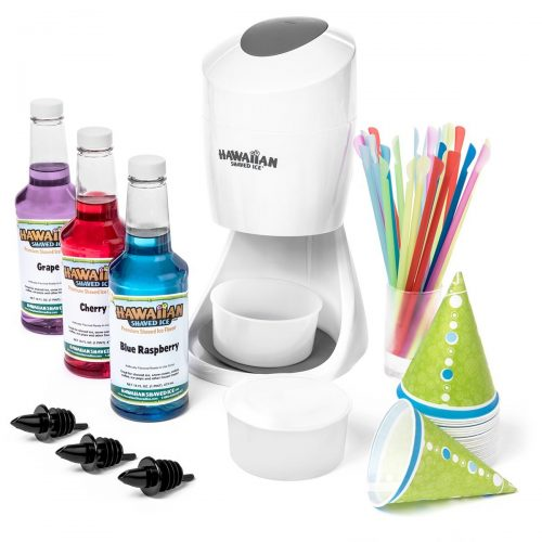 Shaved Ice Machine and Syrup Party Package- Includes S900 Shaved Ice Machine, 3 Ready-To-Use Pints of Syrup