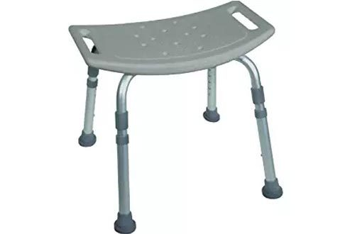 Drive Medical Bath Bench without Back, Grey