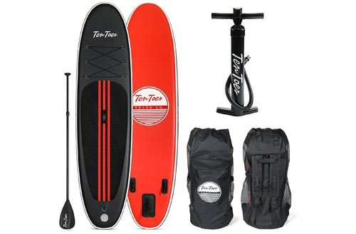 Ten Toes 10' Weekender Inflatable Stand Up Paddle Board Bundle
