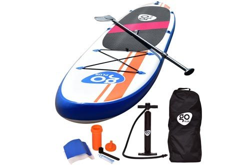 "Goplus 10' Inflatable Stand Up Paddle Board Package w/Fin Adjustable Paddle Pump Kit Carry Backpack, 6"" Thick"