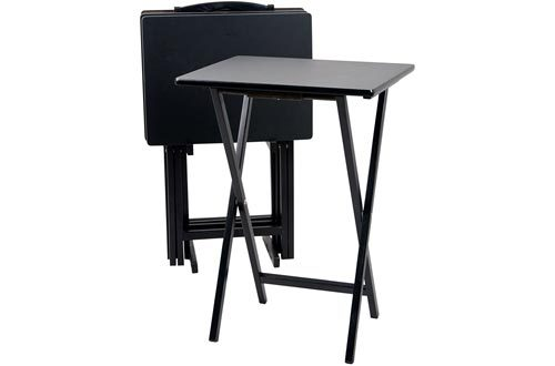 TV Tray 5 PC in Black Color