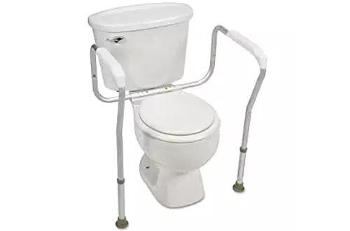 Healthstar Toilet Safety Rail, Aluminum Toilet Safety Frame for Elderly, Weak Stability & those with Limited Mobility
