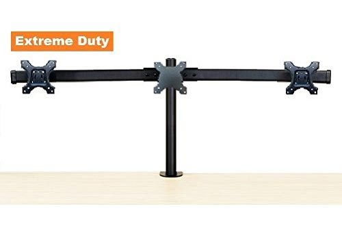 "EZM Deluxe Triple Monitor Mount Stand Desktop Clamp Supports up to 3 28""(002-0019)"