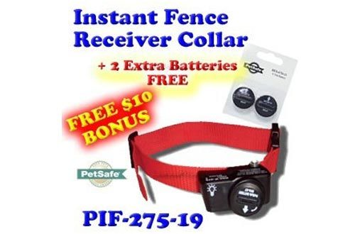 PetSafe PIF-275-19 Wireless Fence Dog Collar with 2 Free Batteries, 10 x 9 x 4""