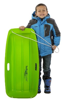 Snow Sled Kids Winter Toboggan Sled, 35-inch, Green