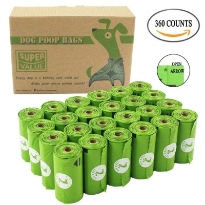PET N PET Poop Bags Biodegradable, 24 Rolls:360 Bags Dog Waste Bags Unscented Leak-Proof