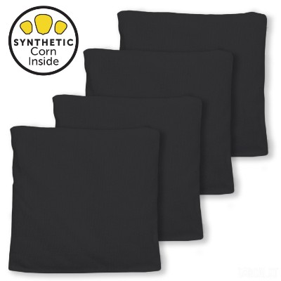 All Weather Cornhole Bags - Made with Corn-Shaped Synthetic Corn for Real Corn Feel - Set of 4
