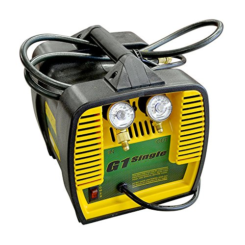 "Appion G1SINGLE Refrigerant Recovery Machine, 115 Vac, 60 Hz, 10 Amp, 10.3"" Height, 9.4"" Width, 11.38"" Length"