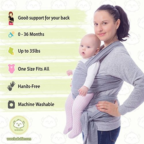 Baby Wrap Carrier by KeaBabies, Baby Carrier Wrap