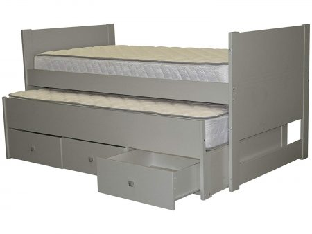 Bedz King Captains Twin Bed with Twin Trundle