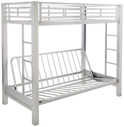Coaster-Futon-Metal-Silver-Finish