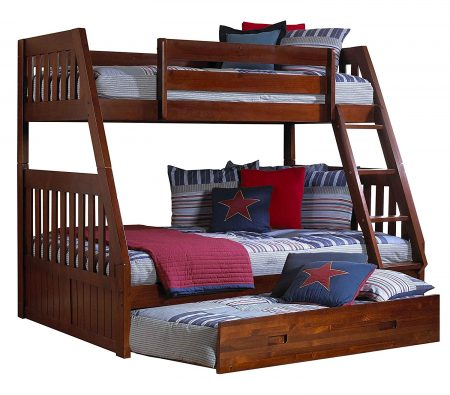 Discovery World Furniture Twin Bed with Twin Trundle