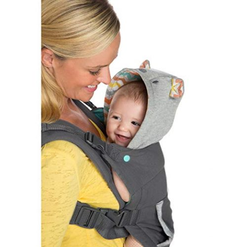 Infantino Cuddle up Ergonomic Hoodie Carrier, Best Baby Carrier for Newborn