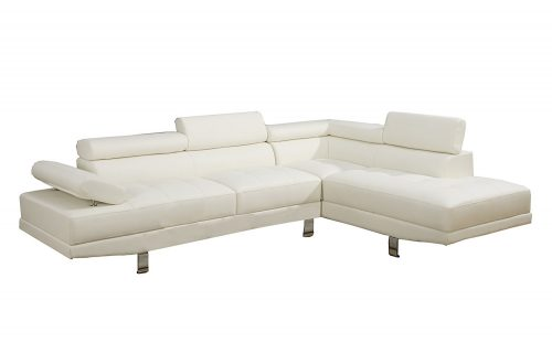 Poundex-Pieces-Leather-Sectional-Chaise