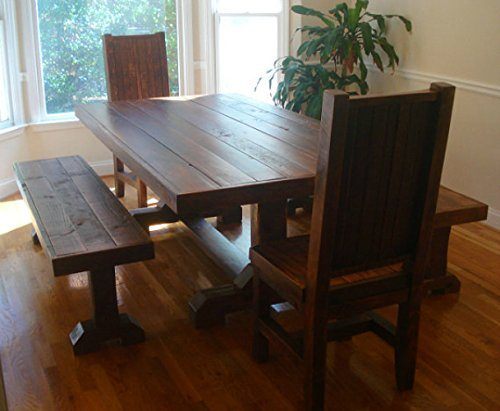 Rustic-Trestle-benches-chairs-Reclaimed