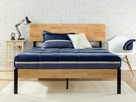 Zinus Tuscan Metal & Wood Platform Bed