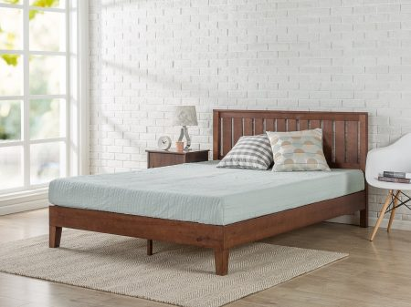 Zinus Wood Platform Beds with Headboard