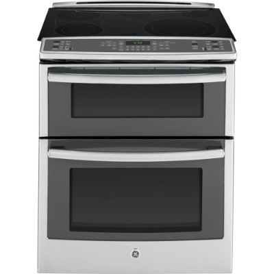 "GE PS950SFSS 30"" 6.6 cup. ft. Capacity Slide-In Double Oven Electric Range In Stainless Steel"
