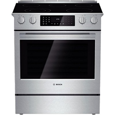 "Bosch HEI8054U 800 30"" Stainless Steel Electric Slide-In Smoothtop Range – Convection"