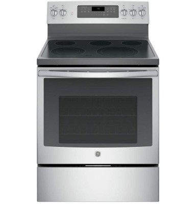"GE JB750SJSS 30"" Stainless Steel Electric Smoothtop Range – Convection"