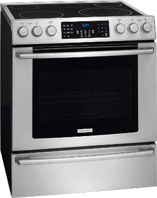 "Electrolux EI30EF45QSIQ-Touch 30"" Stainless Steel Electric Slide-In Smoothtop Range – Convection"