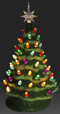 ReLIVE Christmas Is Forever Lighted Tabletop Ceramic Tree