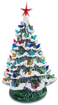 Starry Night 15 Lighted Ceramic Christmas Tree