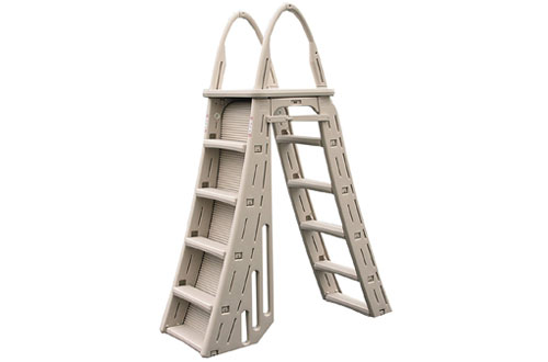 Confer Heavy-Duty A-Frame Above-Ground Pool Ladder