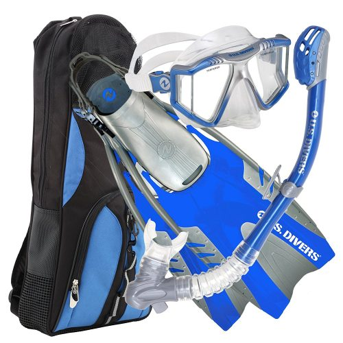 U.S. Divers Lux Platinum Snorkeling Set - Panoramic View Mask, Pivot Fins, GoPro Ready Dry Top Snorkel + Gear Bag TOP 10 BEST SNORKELING SETS IN 2020 REVIEWS