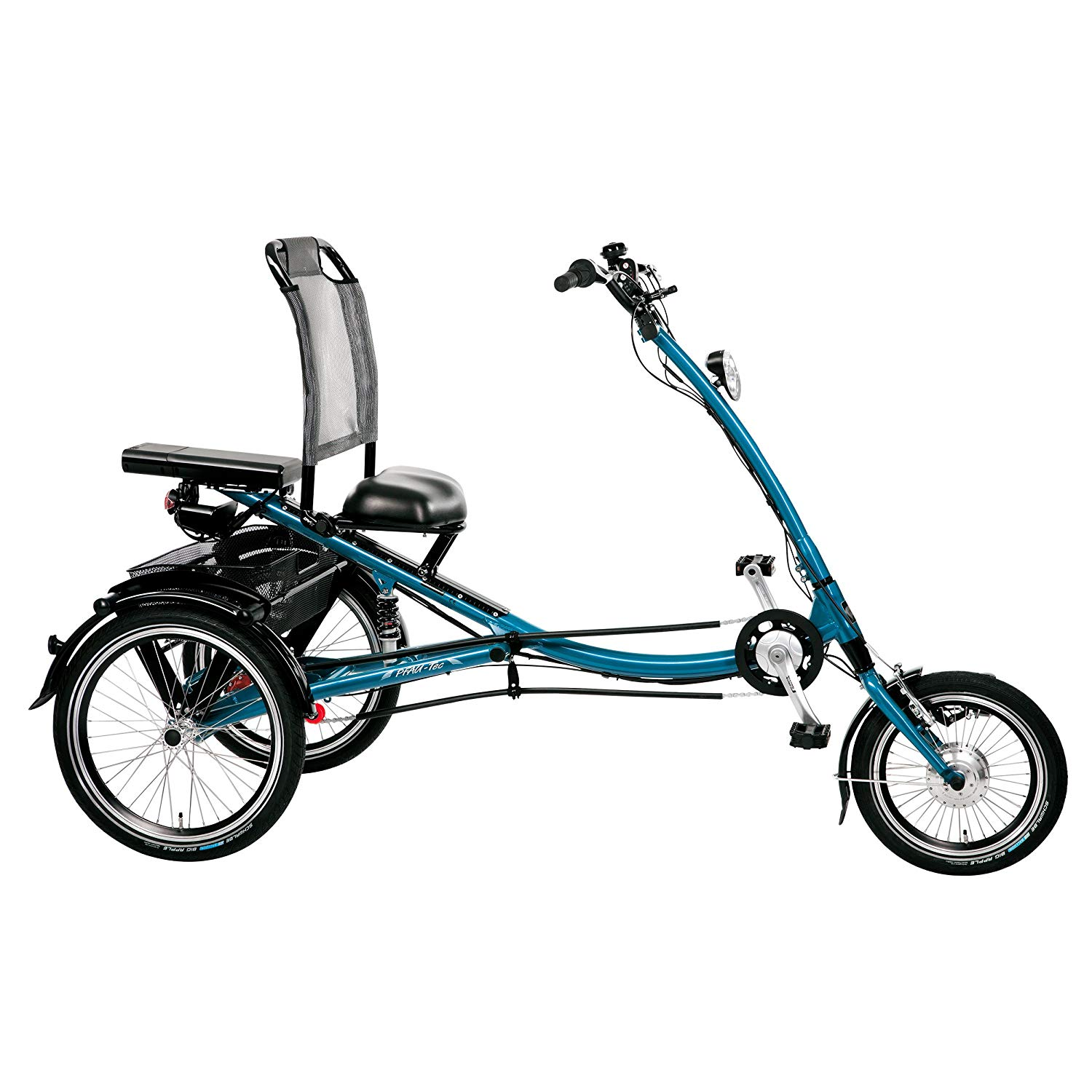 """PFIFF Adult Scooter Trike Tricycle (16"""" & 20"""" wheels), Large or Small, Blue"""