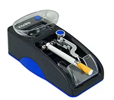 GERUI Electric Cigarette Tobacco Rolling Automatic Roller Maker Mini Machine (blue and black)
