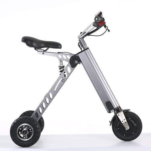 TopMate Mini Electric Tricycle, Foldable Small Size and Light Weight, Suitable for Travel and Leisure Activities, Can Be Placed In The Trunk