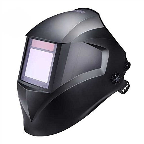 Welding Helmet, Tacklife PAH03D Solar Power Auto Darkening Welding Helmet with Wide Shade Range DIN 3/4-8/9-13 and Highest Optical Class (1/1/1/1), Large Viewing Area, Polyamide Material