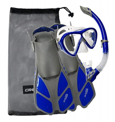 Cressi BONETE SET, Mask Fin Snorkel Adult Snorkeling Set with Bag - Cressi: Quality Since 1946