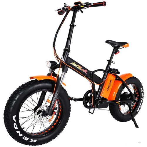 Addmotor MOTAN Electric Bikes Folding 750W 20Inch Fat Tire Electric Bicycle 48V 11.6AH Lithium Battery Mountain Snow Beach M-150 Platinum E-bike 2019