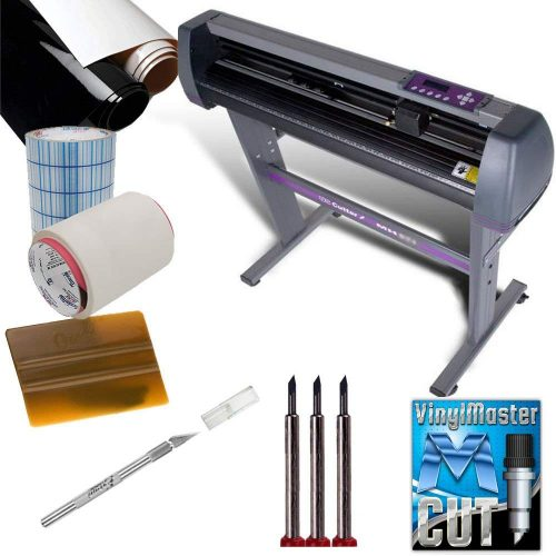 "USCutter Vinyl Sign Making Kit MH 34"" Vinyl Cutter BUNDLE w/Software, Vinyl, Tape, Blades"