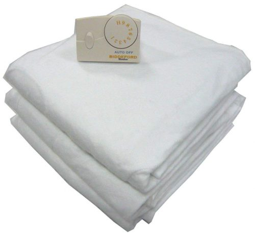 Biddeford 5900-908221-100 Electric Heated Mattress Pad, White Twin