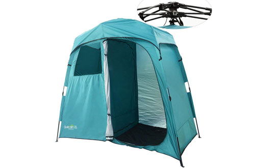 Quictent 2-Room Pop Up Automatic Rod Bracket Shower Tent