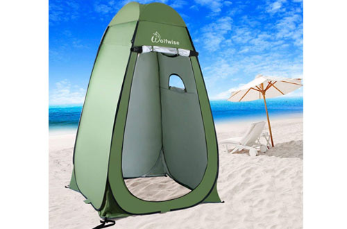 WolfWise Portable Camping Beach Toilet Pop Up Tents