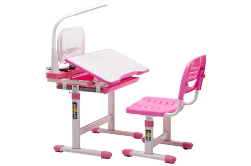 Children's Desk Chair Set Height Adjustable Kids Student School Study Table Work Station