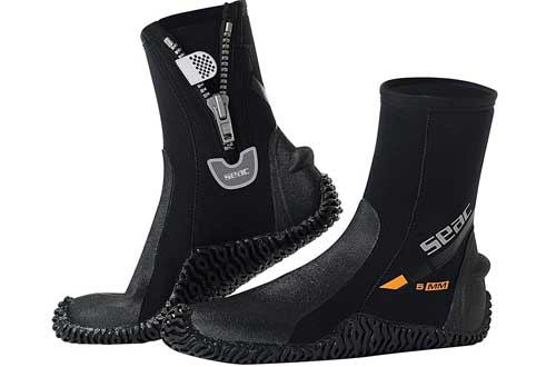 SEAC Basic HD 5mm Neoprene Scuba Boots with Side Zipper