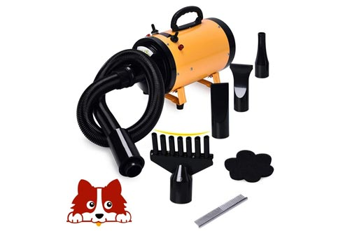 3.2HP 2 Speed Adjustable Heat Temperature Pet Grooming Force Hair Dryer