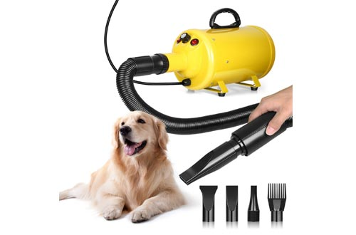 amzdeal Dog Dryers Cat Grooming Dryer 2800W Speed Adjustable Heat