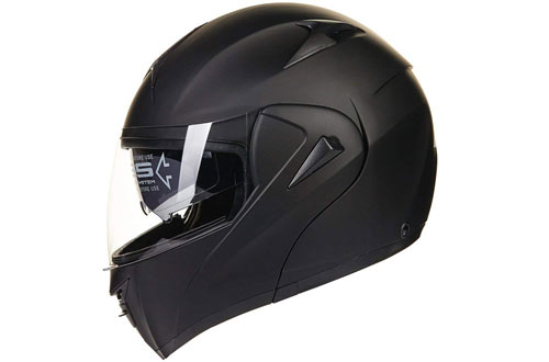 ILM 10 Colors Motorcycle Dual Visor Flip up Modular Full Face Helmet