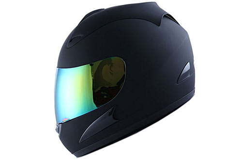 WOW Motorcycle Full Face Helmet Street Bike Matt