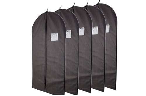 Black Garment Bags for Breathable Storage of Suits