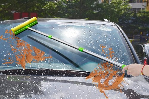 ITTAHO 2-in-1 Window Squeegee Cleaner