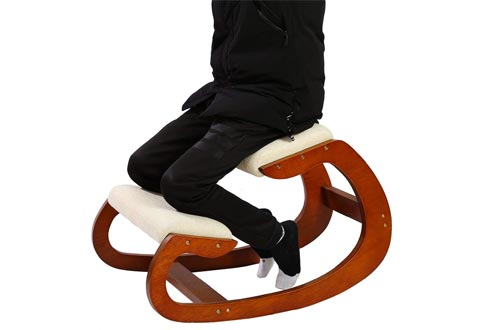Ergonomic Kneeling Chair for Upright Posture - Rocking Chair Knee Stool for Home
