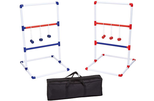 AmazonBasics Ladder Golf Set with Soft Carrying Case