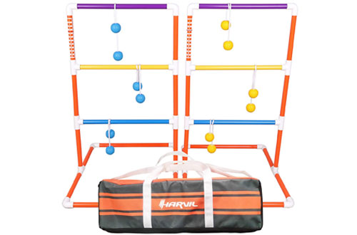 Harvil Premium Ladder Toss Game Set. Includes Soft Bolos